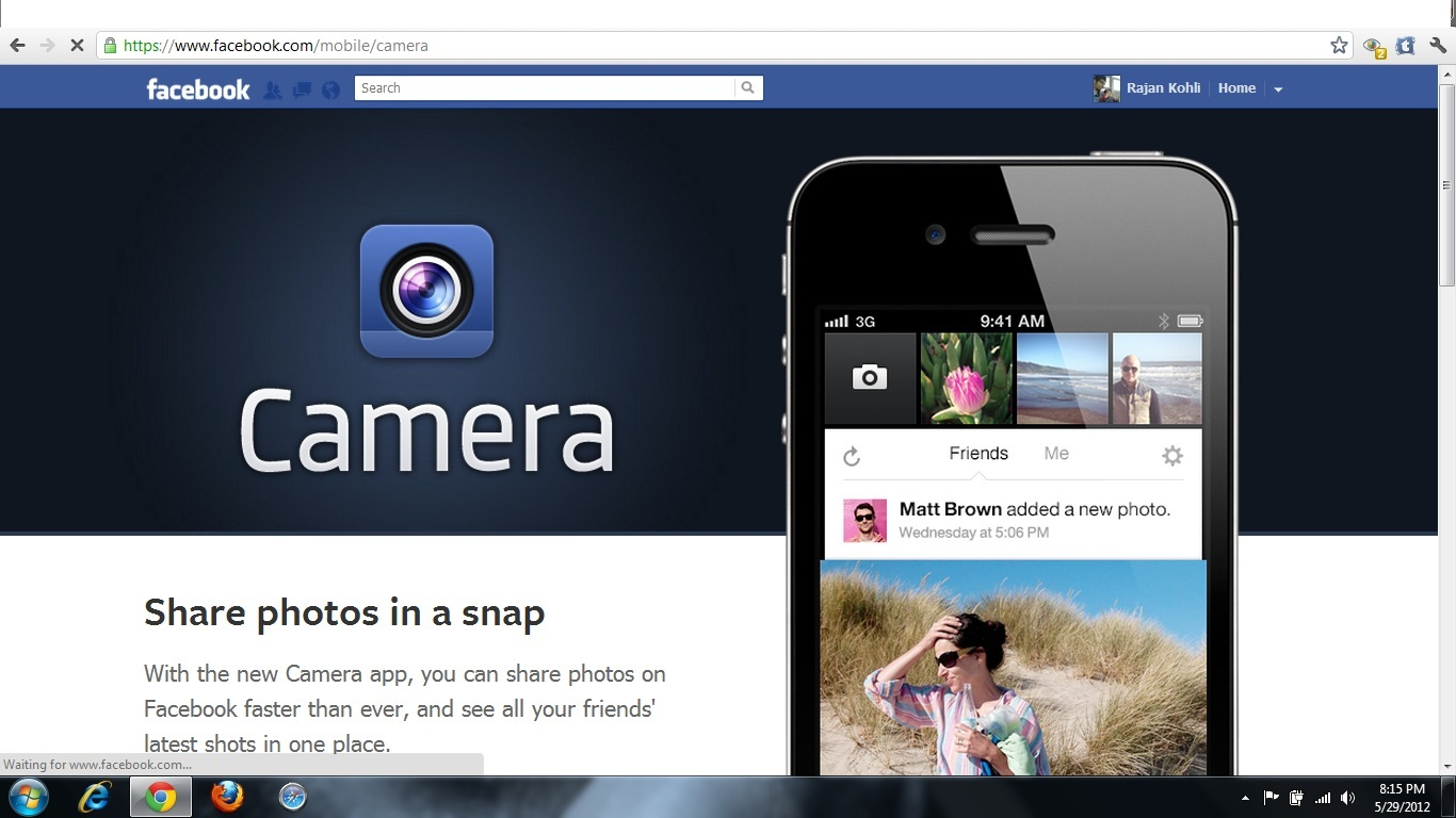 Facebook Camera for iPhone — Multi-Photo Sharing App