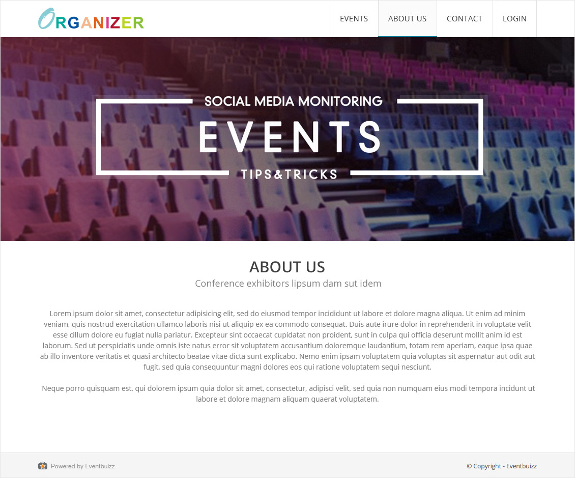 Organizer Site